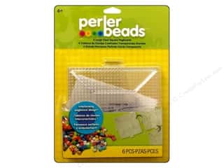beading & jewelry making supplies: Perler Large Clear Square Pegboards 4 pc.