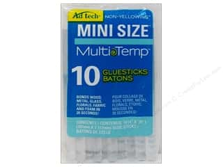 glues, adhesives & tapes: MultiTemp Hot Glue Stick Mini 4 in. 10 pc. by Adhesive Technology