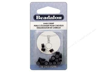 beading & jewelry making supplies: Beadalon Hair Crimps 5 mm Black 18 pc.