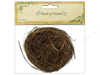 decorative bird: Midwest Design Artificial Bird Nest 4 in. Wild Grass 1 pc.