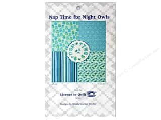 books & patterns: License To Quilt Nap Time For Night Owls Pattern