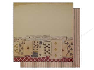 cardstock sale: Bazzill 12 x 12 in. Paper Beach House Score Card/Game Night 25 pc.