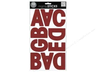 Me & My Big Ideas Sticks Alphabet Stickers Garde Glitter Red