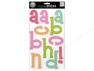 Me & My Big Ideas Sticks Alphabet Stickers Funky Glitter Multi