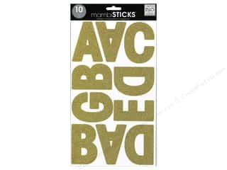Me & My Big Ideas Sticks Alphabet Stickers Garde Glitter Gold