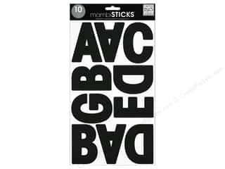 stickers: Me & My Big Ideas Sticks Alphabet Stickers Garde Black