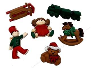jesse james dress it up Christmas buttons: Jesse James Dress It Up Embellishments Christmas Toys