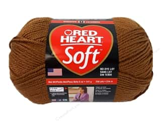discontinued red heart yarn: Red Heart Soft Yarn 256 yd. #1882 Toast