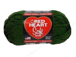 discontinued red heart yarn: Red Heart Soft Yarn 256 yd. #9523 Dark Leaf