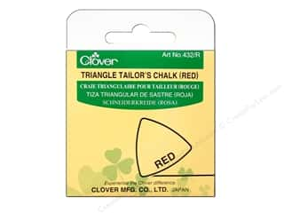 fabric chalk: Clover Triangle Tailors Chalk Red