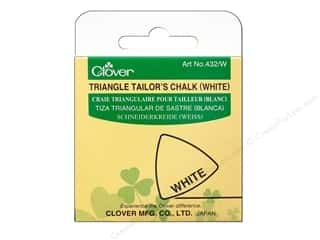 fabric chalk: Clover Triangle Tailors Chalk White