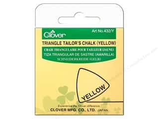 fabric chalk: Clover Triangle Tailors Chalk Yellow