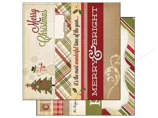 Holiday Sale Printed Cardstock: Simple Stories Paper 12 x 12 in. Handmade Holiday Border/Title Strip Elements (25 sheets)