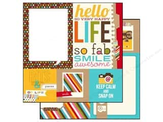 Simple Stories: Simple Stories 12 x 12 in. Paper SN@P! Life Quote & Photo Mat Elements (25 sheets)