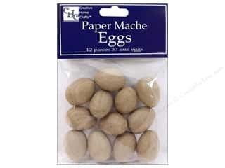 craft & hobbies: PA Paper Mache Egg 1 1/2 in. 12 pc.