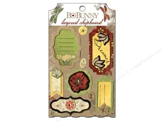 chipboard stickers: Bo Bunny Layered Chipboard Stickers Serenade