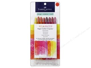 FaberCastell Mix Match Paper Crafter Crayon Mix & Match Set Red/Yellow