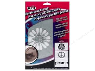 craft & hobbies: Tulip Fabric Stencil Flexible Peace