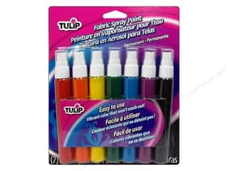 craft & hobbies: Tulip Fabric Spray Paint 7 pc. Rainbow