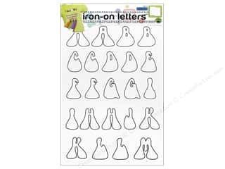 sewing & quilting: Color-In Iron-on Letters Hippie by Dritz Clear/Black