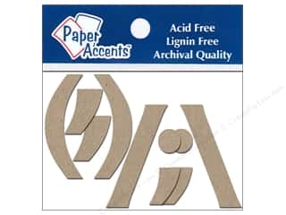"Paper Accents Chipboard Punctuation ( ),./ "" 2 in. 2 ea. Kraft"