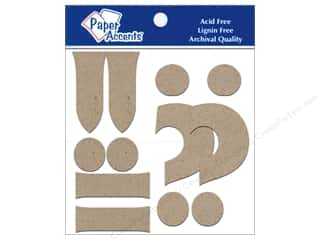 Paper Accents Chipboard Punctuation !-.? 4 in. 2 pc. Kraft