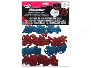 craft & hobbies: Tulip Fashion Glitter Shapes Red/Blue 96pc