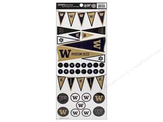 scrapbooking & paper crafts: Sports Solution Sticker Pennant Washington