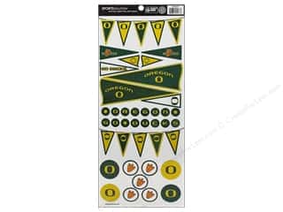 scrapbooking & paper crafts: Sports Solution Sticker Pennant Oregon