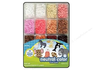 beading & jewelry making supplies: Perler Bead Tray 4000 pc. Neutral Colors