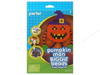 Weekly Specials Halloween Stickers: Perler Fused Bead Kit Biggie Pumpkin Man