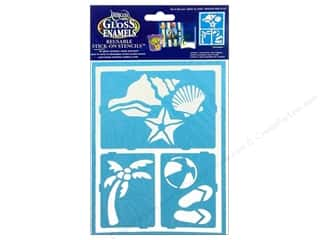 craft & hobbies: DecoArt Americana Gloss Enamels Stick-On Stencils 6 x 8 in. Fun In Sun