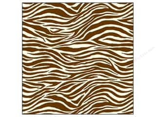 Canvas Corp 12 x 12 in. Paper Chocolate & Ivory Zebra