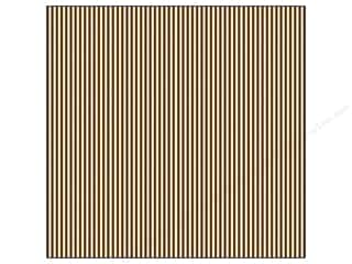 Canvas Corp 12 x 12 in. Paper Chocolate & Ivory Ribbon Stripe