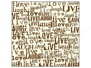 Canvas Corp 12 x 12 in. Paper Chocolate & Ivory Live Love Laugh