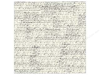 Canvas Corp 12 x 12 in. Paper Black & Ivory French Script
