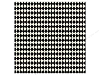 paper white: Canvas Corp 12 x 12 in. Paper Black & Ivory Diamonds (15 sheets)