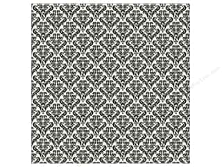 Canvas Corp 12 x 12 in. Paper Black & Ivory Damask