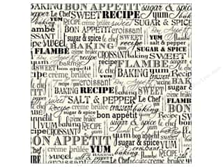 Canvas Corp 12 x 12 in. Paper Black & Ivory Bon Appetit