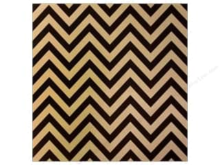 Canvas Corp 12 x 12 in. Paper Black & Kraft Chevron