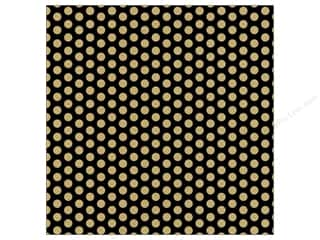 Canvas Corp 12 x 12 in. Paper Black & Kraft Dot Reverse
