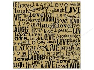 Canvas Corp 12 x 12 in. Paper Black & Kraft Live Love Laugh