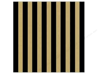 Canvas Corp 12 x 12 in. Paper Black & Kraft Big Stripe