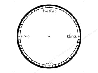 Canvas Corp 12 x 12 in. Paper Black & White Clock Modern (15 sheets)
