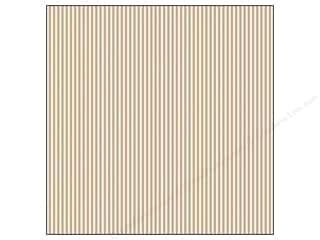 Canvas Corp 12 x 12 in. Paper Tan & Ivory Ribbon Stripe (15 sheets)