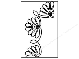 Quilt Stencil  Borders: Quilting Creations Stencil Tropicana Flower Border 4 in.