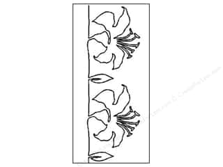 Quilt Stencil  Borders: Quilting Creations Stencil Graceful Lily Border 5 in.