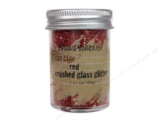 Clearance Fran-tage Color Fragments: Stampendous Fran-Tage Crushed Glass Glitter 1.41 oz. Red