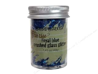 Clearance Fran-tage Color Fragments: Stampendous Fran-Tage Crushed Glass Glitter 1.41 oz. Royal Blue