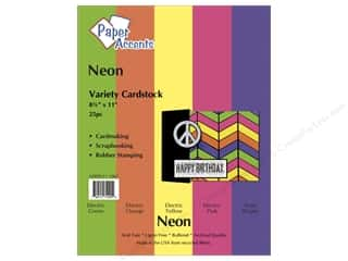 Paper Accents Cardstock: Cardstock Variety Pack 8 1/2 x 11 in. Neon 25 pc. by Paper Accents
